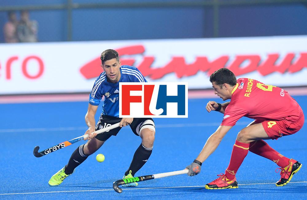 Odisha Men's Hockey World League Final Bhubaneswar 2017<br /> Match id:11<br /> Argentina v Spain<br /> Foto: Ignacio Ortiz (Arg) and Ricardo Sanchez (Esp)  <br /> COPYRIGHT WORLDSPORTPICS FRANK UIJLENBROEK