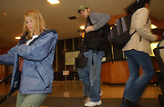 16712Voting a day early at Baker Center: Colby Ware..11/1/04--Students at Baker Center vote a day early.