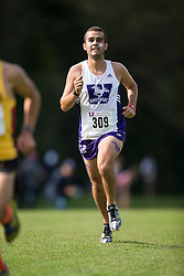 Phil Parrot-Migas of the Western Mustangs  (309) competes in the men's 8k  at the 2015 Western International Cross country meet in London Ontario, Saturday,  September 26, 2015.<br /> Mundo Sport Images/ Geoff Robins