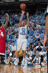28 December 2006: North Carolina Tarheel forward (24) Surry Wood during a 87-48 Rutgers Scarlet Knights loss to the North Carolina Tarheels, in the Dean Smith Center in Chapel Hill, NC.<br />