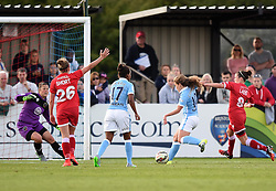 Manchester City Women's Daphne Corboz scores against Bristol Academy Women - Photo mandatory by-line: Paul Knight/JMP - Mobile: 07966 386802 - 18/07/2015 - SPORT - Football - Bristol - Stoke Gifford Stadium - Bristol Academy Women v Manchester City Women - FA Women's Super League