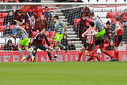 March 16, 2019 - Sunderland, Tyne and Wear, United Kingdom - Walsall's Josh Gordon scoring his side's first goal during the Sky Bet League 1 match between Sunderland and Walsall at the Stadium Of Light, Sunderland on Saturday 16th March 2019. (Credit: Steven Hadlow | MI News) (Credit Image: © Mi News/NurPhoto via ZUMA Press)
