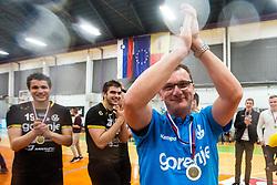 Zoran Jovicic head coach of RK Gorenje Velenje after winning Slovenian cup during handball match between RK Gorenje Velenje and MRK Krka in Final of Slovenian Men Handball Cup 2018/19, on Maj 12, 2019 in Novo Mesto, Slovenia. Photo by Grega Valancic / Sportida