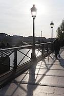 France. Paris. 1st district. the pont des arts on the Seine river   /   la passerelle des arts sur la Seine