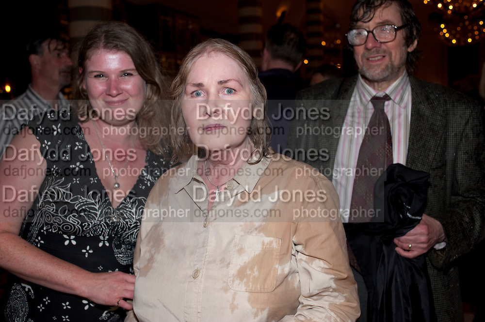 CLAIRE RAYNER; ANNE RAYNER; JOHN RAYNER, Massimo's restaurant at the Corinthia Hotel, Whitehall  host the after party  for 'Claire Rayner's benefit show' 5 June 2011. <br /> <br />  , -DO NOT ARCHIVE-© Copyright Photograph by Dafydd Jones. 248 Clapham Rd. London SW9 0PZ. Tel 0207 820 0771. www.dafjones.com.