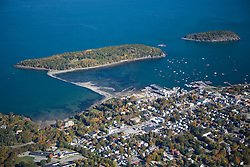 Bar Harbor Maine from the air USA