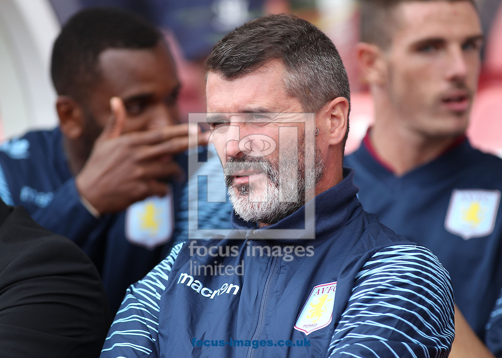 Roy Keane, assistant manager of Aston Villa, on the touchline prior to the Barclays Premier League match against Stoke City at the Britannia Stadium, Stoke-on-Trent.<br /> Picture by Michael Sedgwick/Focus Images Ltd +44 7900 363072<br /> 16/08/2014
