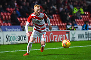Ali Crawford of Doncaster Rovers (11) with his eyes on the ball during the EFL Sky Bet League 1 match between Doncaster Rovers and AFC Wimbledon at the Keepmoat Stadium, Doncaster, England on 17 November 2018.