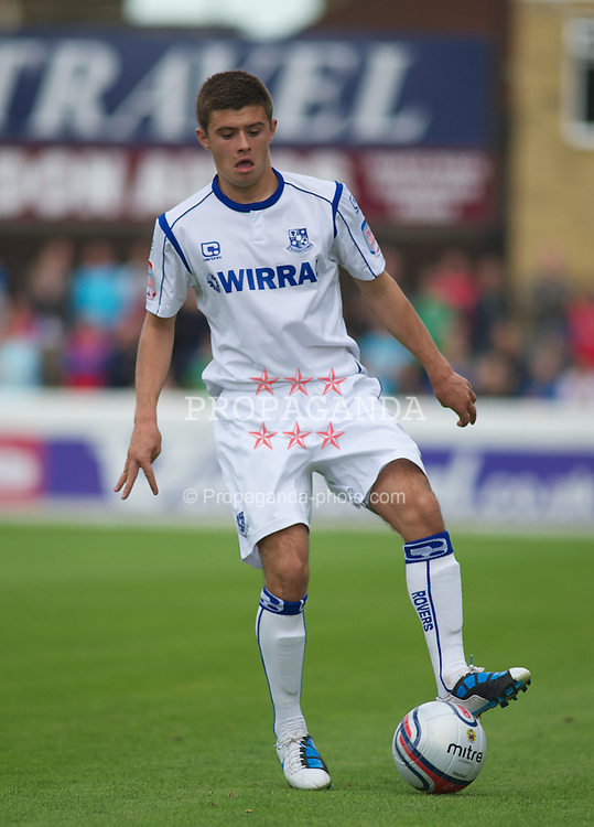 DAGENHAM, ENGLAND - Saturday, August 28, 2010: Tranmere Rovers' Aaron Cresswell in action against Dagenham & Redbridge during the Football League One match at Victoria Road. (Photo by Gareth Davies/Propaganda)