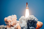 CAPE CANAVERAL, FL - May 11:   Space Shuttle Atlantis STS-125 lifts off from launch pad 39-A at Kennedy Space Center May 11, 2009 in Cape Canaveral, Florida. Atlantis is scheduled for an 11-day mission to service the Hubble Space Telescope. (Photo by Matt Stroshane/Getty Images)