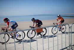 The break got a steady 2 minute gap by lap three during Stage 5 of the Healthy Ageing Tour - a 117.9 km road race, starting and finishing in Borkum on April 9, 2017, in Groeningen, Netherlands.
