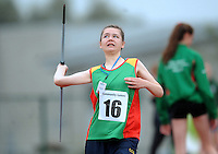 21 Aug 2016: Sophie Webb, from Carlow.  Girls U14 Javelin.  2016 Community Games National Festival 2016.  Athlone Institute of Technology, Athlone, Co. Westmeath. Picture: Caroline Quinn
