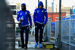Abu Ogogo of Bristol Rovers and Jonson Clarke-Harris of Bristol Rovers arrives at Memorial Stadium prior to kick off - Mandatory by-line: Ryan Hiscott/JMP - 10/11/2019 - FOOTBALL - Memorial Stadium - Bristol, England - Bristol Rovers v Bromley - Emirates FA Cup first round