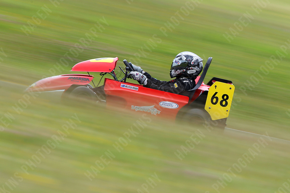 Garth Lacey, 68, races in the Rotax Heavy class during the 2012 Superkart National Champs and Grand Prix at Manfeild in Feilding, New Zealand on Saturday, 7 January 2011. Credit: Hagen Hopkins.
