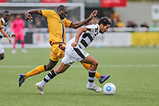 Forest Green Rovers Fabien Robert(26) on the ball during the The FA Cup 4th qualifying round match between Sutton United and Forest Green Rovers at Gander Green Lane, Sutton, United Kingdom on 15 October 2016. Photo by Shane Healey.