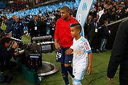 Kylian Mbappé of PSG during the French Championship Ligue 1 football match between Olympique de Marseille and Paris Saint-Germain on October 22, 2017 at Orange Velodrome stadium in Marseille, France - Photo Philippe Laurenson / ProSportsImages / DPPI