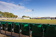 General view of the ground before Day 1 of the Specsavers County Champ Div 2 match between Leicestershire County Cricket Club and Lancashire County Cricket Club at the Fischer County Ground, Grace Road, Leicester, United Kingdom on 23 September 2019.