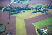 Aerial view of the Amish Farm
