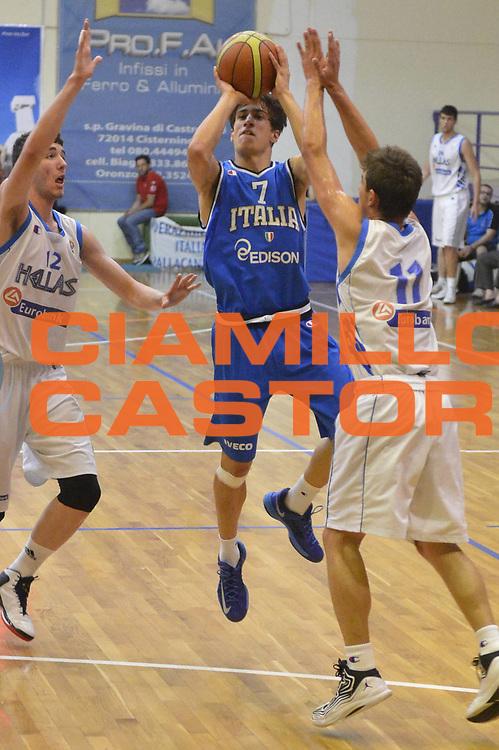 DESCRIZIONE : 6 Luglio 2013 Under 18 maschile<br /> Torneo di Cisternino Italia Grecia<br /> GIOCATORE : Tommaso Laquintana<br /> CATEGORIA : <br /> SQUADRA : Italia Under 18<br /> EVENTO : 6 Luglio 2013 Under 18 maschile<br /> Torneo di Cisternino Italia Grecia<br /> GARA : Italia Under 18 Grecia<br /> DATA : 06/07/2013<br /> SPORT : Pallacanestro <br /> AUTORE : Agenzia Ciamillo-Castoria/GiulioCiamillo<br /> Galleria : <br /> Fotonotizia : 6 Luglio 2013 Under 18 maschile<br /> Torneo di Cisternino Italia Grecia<br /> Predefinita :