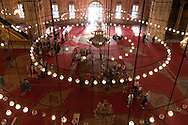 Egypt . Cairo : INSIDE Muhammad Ali  on the citade - lottoman style, . ceiling. paintings  Cairo +