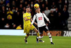 Thomas Ince of Derby County and Tom Flanagan of Burton Albion watch the ball bounce - Mandatory by-line: Robbie Stephenson/JMP - 21/02/2017 - FOOTBALL - iPro Stadium - Derby, England - Derby County v Burton Albion - Sky Bet Championship