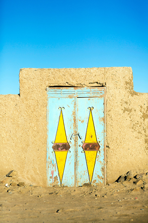 Hassilabied village, Southern Morocco, 2017-12-21.<br /><br />Hassilabied village is located on the fringes of the Erg Chebbi dunes, 3km from Merzouga.