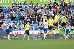 Reading's Danny Guthrie scoring his second goal from another free kick - Photo mandatory by-line: Nigel Pitts-Drake/JMP - Tel: Mobile: 07966 386802 28/09/2013 - SPORT - FOOTBALL - Madejski Stadium - Reading - Reading V Birmingham City - Sky Bet Championship