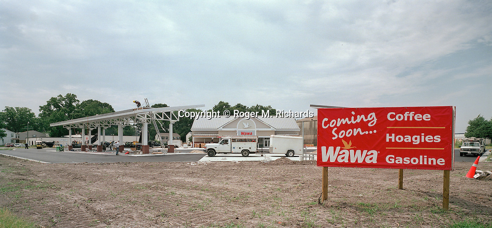 Construction of a new Wawa convenience store and gas station. Photograph by Roger M. Richards