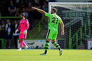 Aarran Racine (21) of Forset Green Rovers pointing during the Vanarama National League match between Forest Green Rovers and Southport at the New Lawn, Forest Green, United Kingdom on 29 August 2016. Photo by Graham Hunt.