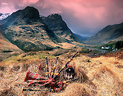 Bagpipes,pass of Glencoe, West Highlands