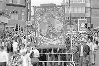 Pontefract Branch banner1988 Yorkshire Miner's Gala. Wakefield.
