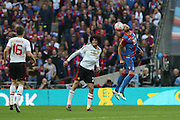 Damien Delaney (27) of Crystal Palace heads the ball during the The FA Cup Final between Crystal Palace and Manchester United at Wembley Stadium, London, England on 21 May 2016. Photo by Phil Duncan.