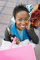 Young Woman after Shopping Spree