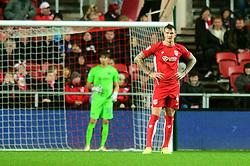 Aden Flint of Bristol City cuts a dejected figure - Mandatory by-line: Dougie Allward/JMP - 22/02/2017 - FOOTBALL - Ashton Gate - Bristol, England - Bristol City v Fulham - Sky Bet Championship