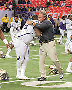 "Alcorn State and North Carolina A&T came together in the inaugural Celebration Bowl at The Georgia Dome in Atlanta. The Celebration Bowl is the first attempt at reviving a MEAC-SWAC postseason game since 1999. The matchup pits the champion of the Southwestern Athletic Conference, Alcorn State, against the champion of the Mid-Eastern Athletic Conference, NC A&T, in what some have called ""black college national championship."" NC A&T takes there championship with a 41-34 victory over Alcorn State."