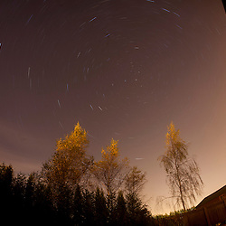 Star trails on an Scottish October night.