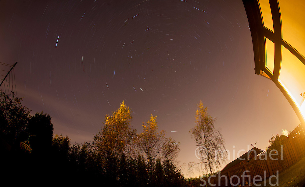 Star trails on an October night..©Michael Schofield.