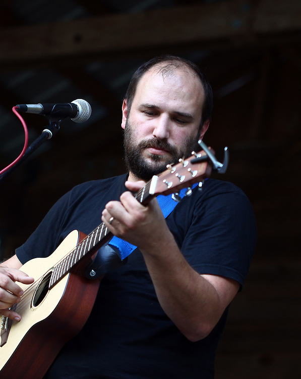 David Bazan plays on the main stage at the Wild Goose Festival at Shakori Hills in North Carolina June 25, 2011.  (Photo by Courtney Perry)