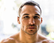 LONG BEACH, CALIFORNIA, OCTOBER 31, 2013: Michael Chandler poses for a portrait inside the Westin hotel in Long Beach, California ahead of their fight at Bellator CVI (© Martin McNeil)