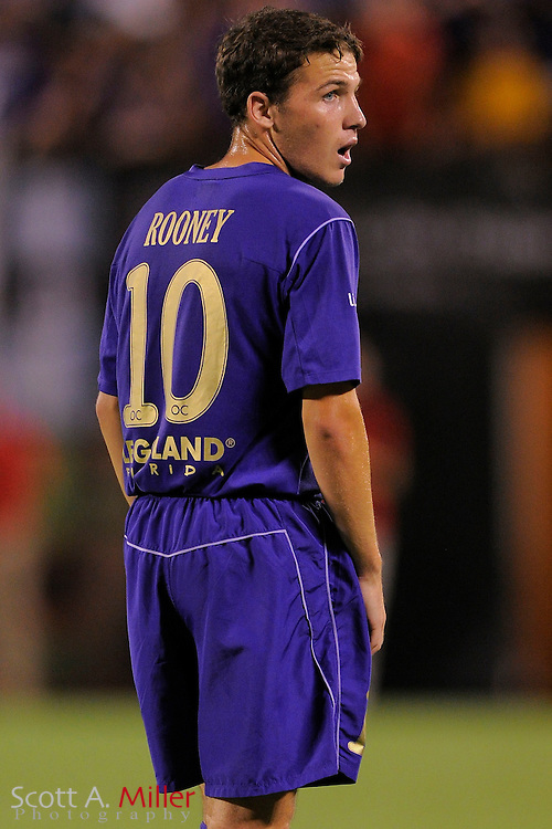 Orlando City Lions midfielder John Rooney (10) in action against the Stoke City Potters at the Florida Citrus Bowl on July 28, 2012 in Orlando, Florida. Stoke won 1-0...© 2012 Scott A. Miller.