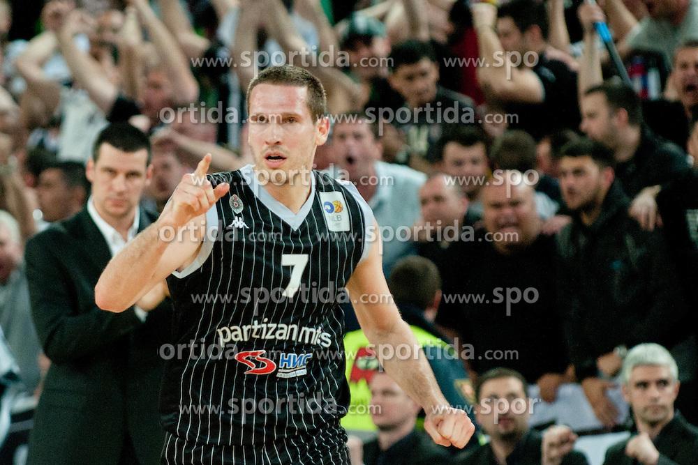 Dusan Kecman of Partizan during final match of Basketball NLB League at Final Four tournament between KK Union Olimpija (SLO) and Partizan Belgrade (SRB), on April 21, 2011 at SRC Stozice, Ljubljana, Slovenia. (Photo By Matic Klansek Velej / Sportida.com)