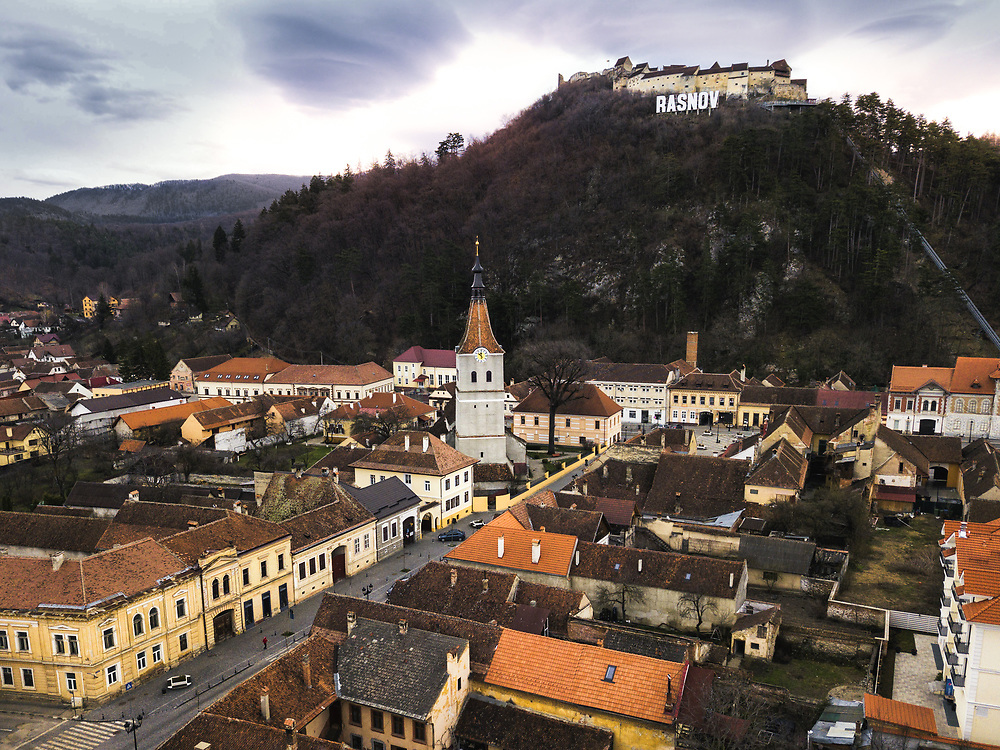 Rasnov Citadel and the old town, Romania