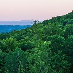 Dawn in Sandgate, Vermont as seen from a clearing near Egg Mountain.