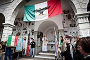 Rovetta, Bergamo, Italy, 27 maggio 2012. Commemorazione dei 43 militi della Tagliamento della RSI, uccisi il 28 aprile del 1945.