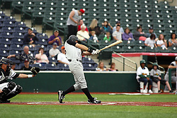 09 June 2011: Chris Luick bats during a game between the Lake Erie Crushers and the Normal Cornbelters at the Corn Crib in Normal Illinois.