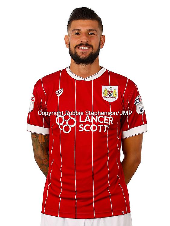 Eros Pisano of Bristol City  - Mandatory by-line: Robbie Stephenson/JMP - 01/08/2017 - FOOTBALL - Ashton Gate - Bristol, England - Bristol City Headshots