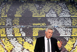26.06.2013, Estadio Santiago Bernabeu, Madrid, ESP, Primera Division, Real Madrid, Praesentation Trainer Carlo Ancelotti, im Bild Real Madrid's new coach Carlo Ancelotti // during official presentation of Spanish Primera Division club Real Madrid new coach Carlo Ancelotti at the Estadio Santiago Bernabeu, Madrid, Spain on 2013/06/26. EXPA Pictures © 2013, PhotoCredit: EXPA/ Alterphotos/ Acero<br /> <br /> ***** ATTENTION - OUT OF ESP and SUI *****