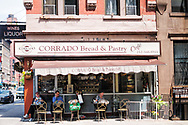 Relaxing during a summery afternoon at Corrado Bread & Pastry Café on Lexington Avenue and 90th street.