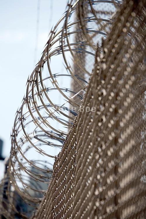 fence with razor wire