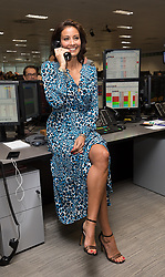 September 11, 2018 - London, London, UK - Melanie Sykes at the 14th Annual BGC Charity Day held on the trading floor of BGC Partners in Canary Wharf, to raise money for charitable causes in commemoration of BGC's 658 colleagues and the 61 Eurobrokers employees lost on 9/11. (Credit Image: © Vickie Flores/London News Pictures via ZUMA Wire)